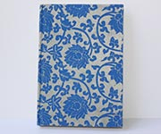 Notizbuch Lotus blau